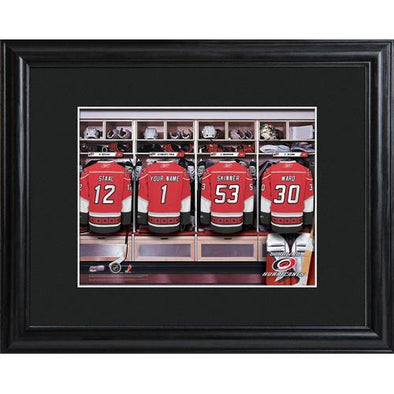 Personalized NHL Locker Room Sign w/Matted Frame - Hurricanes -  - JDS