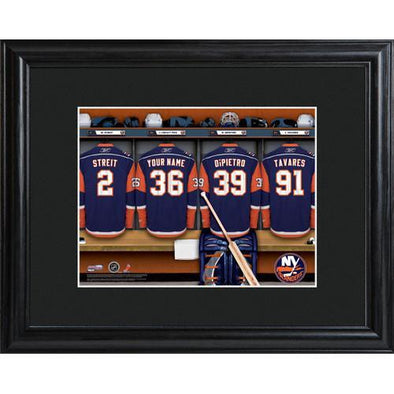 Personalized NHL Locker Room Sign w/Matted Frame - Islanders -  - JDS
