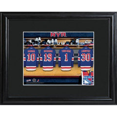 Personalized NHL Locker Room Sign w/Matted Frame - Rangers
