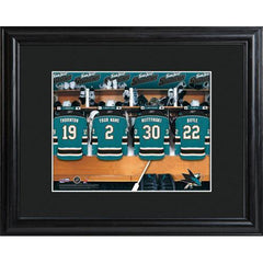 Personalized NHL Locker Room Sign w/Matted Frame - Sharks -  - Professional Sports Gifts - AGiftPersonalized