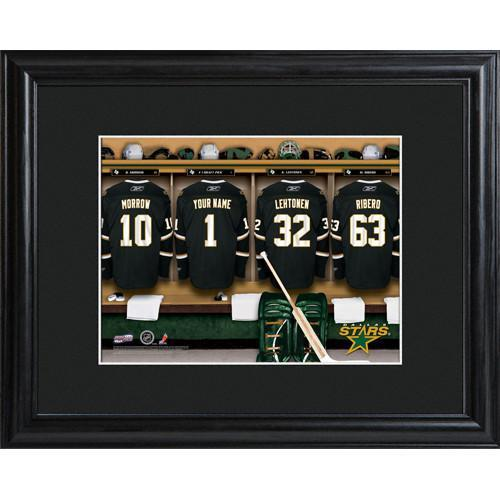 Personalized-NHL-Locker-Room-Sign-wMatted-Frame-Stars