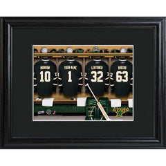 Personalized NHL Locker Room Sign w/Matted Frame - Stars