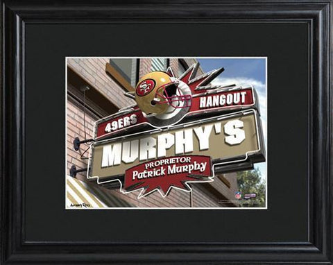 Personalized NFL Pub Sign w/Matted Frame - 49ers -  - Professional Sports Gifts - AGiftPersonalized