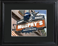 Personalized NFL Pub Sign w/Matted Frame - Broncos -  - Professional Sports Gifts - AGiftPersonalized
