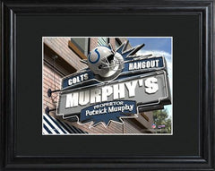 Personalized NFL Pub Sign w/Matted Frame - Colts