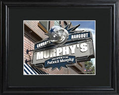 Personalized NFL Pub Sign w/Matted Frame - Cowboys -  - Professional Sports Gifts - AGiftPersonalized