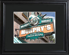Personalized NFL Pub Sign w/Matted Frame - Dolphins -  - Professional Sports Gifts - AGiftPersonalized