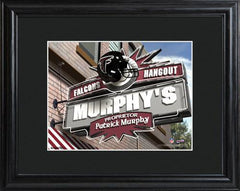Personalized NFL Pub Sign w/Matted Frame - Falcons