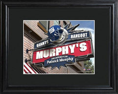 Personalized NFL Pub Sign w/Matted Frame - Giants -