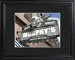 Personalized NFL Pub Sign w/Matted Frame - Jets -  - Professional Sports Gifts - AGiftPersonalized