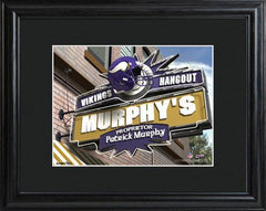 Personalized NFL Pub Sign w/Matted Frame - Vikings -  - Professional Sports Gifts - AGiftPersonalized
