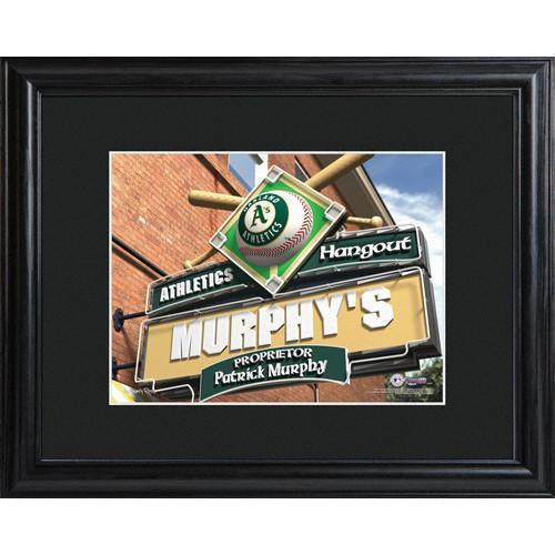 Personalized-MLB-Pub-Sign-wMatted-Frame-Athletics