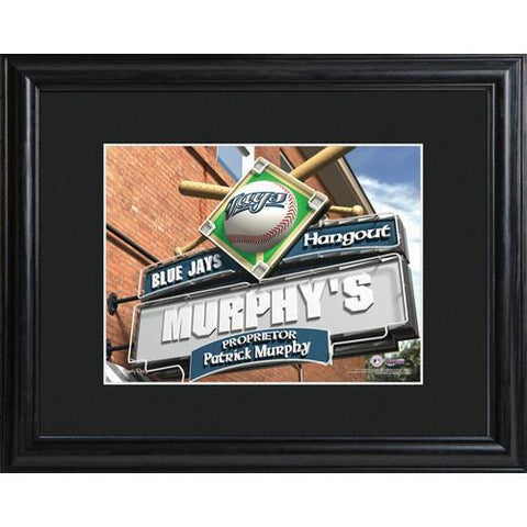Personalized MLB Pub Sign w/Matted Frame - Blue Jays -  - Professional Sports Gifts - AGiftPersonalized
