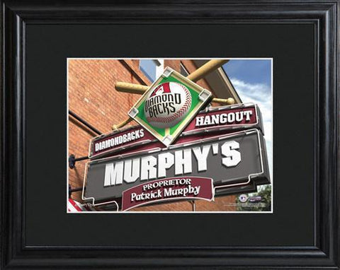 Personalized MLB Pub Sign w/Matted Frame - Diamondbacks -  - Professional Sports Gifts - AGiftPersonalized
