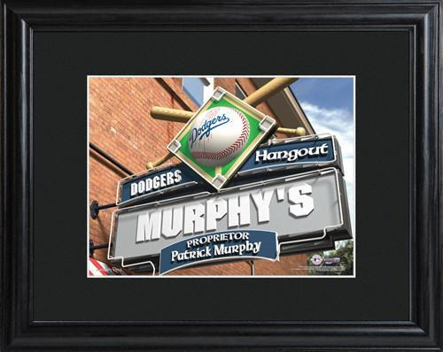 Personalized-MLB-Pub-Sign-wMatted-Frame-Dodgers