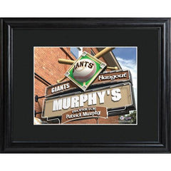 Personalized MLB Pub Sign w/Matted Frame - Giants -  - Professional Sports Gifts - AGiftPersonalized
