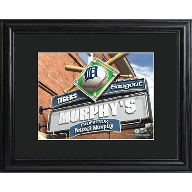 Personalized MLB Pub Sign w/Matted Frame - Tigers -  - JDS