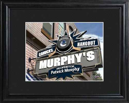 Personalized NHL Pub Sign w/Matted Frame - Canucks -  - JDS