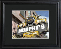 Personalized NHL Pub Sign w/Matted Frame - Ducks