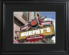 Personalized NHL Pub Sign w/Matted Frame - Flames