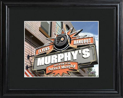 Personalized NHL Pub Sign w/Matted Frame - Flyers -  - JDS