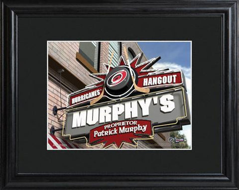 Personalized NHL Pub Sign w/Matted Frame - Hurricanes -  - Professional Sports Gifts - AGiftPersonalized