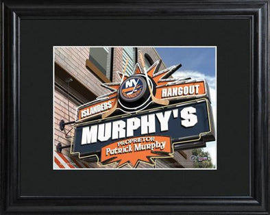 Personalized NHL Pub Sign w/Matted Frame - Islanders -  - JDS