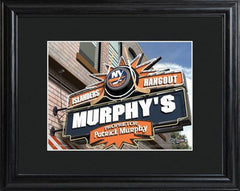 Personalized NHL Pub Sign w/Matted Frame - Islanders