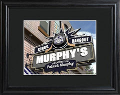 Personalized NHL Pub Sign w/Matted Frame - Kings