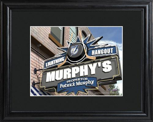 Personalized-NHL-Pub-Sign-wMatted-Frame-Lightning