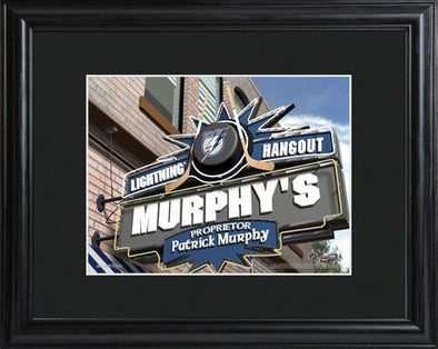 Personalized NHL Pub Sign w/Matted Frame - Lightning -  - JDS