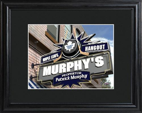 Personalized NHL Pub Signw/Matted Frame - Maple Leafs -  - JDS