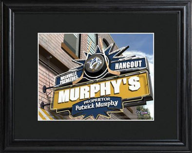 Personalized NHL Pub Sign w/Matted Frame - Predators -  - JDS