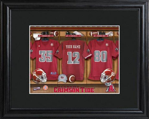Personalized College Locker Room Sign w/Matted Frame - Alabama
