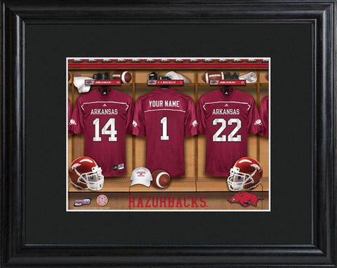 Personalized College Locker Room Sign w/Matted Frame - Arkansas