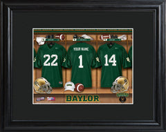 Personalized College Locker Room Sign w/Matted Frame - Baylor