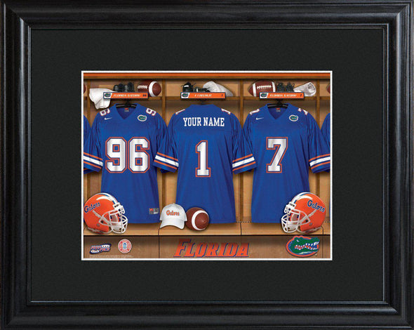 Personalized College Locker Room Sign w/Matted Frame - Florida - JDS