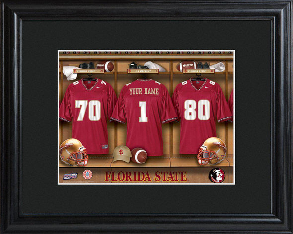Personalized College Locker Room Sign w/Matted Frame - FloridaST - JDS