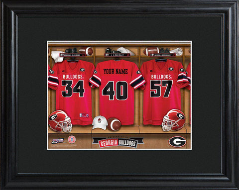 Personalized College Locker Room Sign w/Matted Frame - Georgia