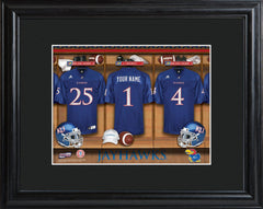 Personalized College Locker Room Sign w/Matted Frame - Kansas