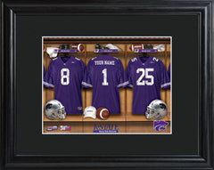 Personalized College Locker Room Sign w/Matted Frame - KansasST