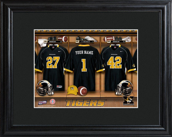 Personalized College Locker Room Sign w/Matted Frame - Missouri - JDS