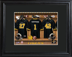 Personalized College Locker Room Sign w/Matted Frame - Missouri