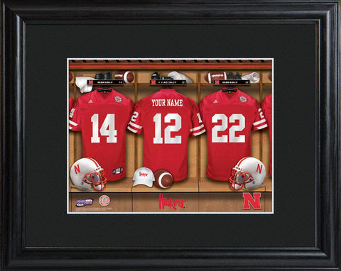 Personalized College Locker Room Sign w/Matted Frame - Nebraska
