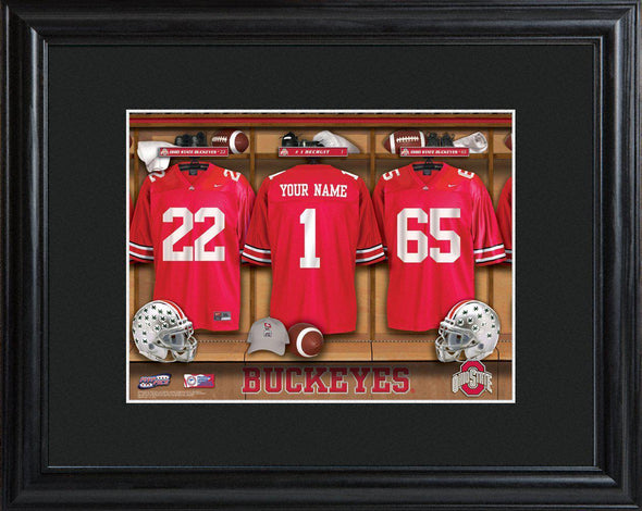 Personalized College Locker Room Sign w/Matted Frame - OhioST - JDS
