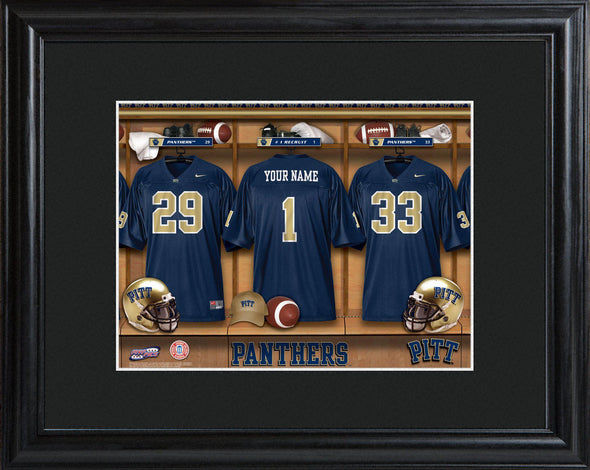 Personalized College Locker Room Sign w/Matted Frame - Pittsburgh - JDS