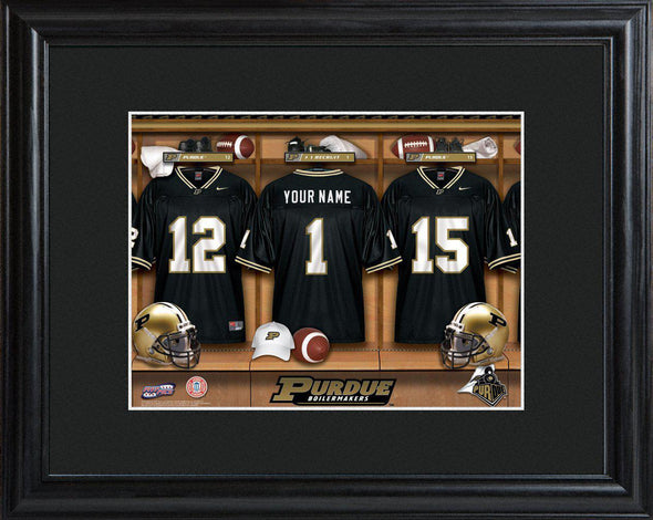 Personalized College Locker Room Sign w/Matted Frame - Purdue - JDS