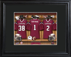 Personalized College Locker Room Sign w/Matted Frame - SCarolina