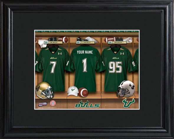 Personalized College Locker Room Sign w/Matted Frame - SFlorida - JDS