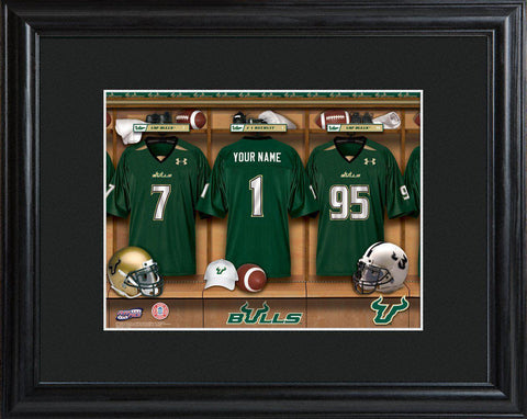 Personalized College Locker Room Sign w/Matted Frame - SFlorida